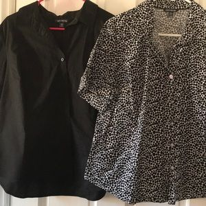 Set of two Women's button up shirts by George